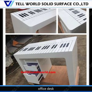 Pure White High Glossy Surface Curved Office Desk Office Table Executive CEO Desk Office Desk pictures & photos