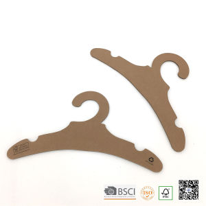 Eco Recyclable Baby Size Paper Cardboard Cloth Hangers pictures & photos