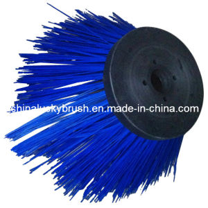 PP Material Blue Round Road Brush (YY-018) pictures & photos