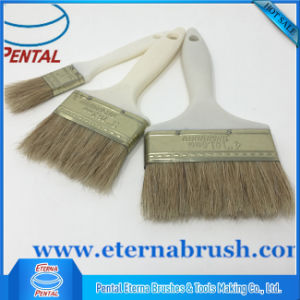 White Boiled Oil Bristle Paint Brush pictures & photos