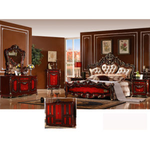 Classical Bed for Bedroom Furniture Set and Home Furniture (W803B) pictures & photos