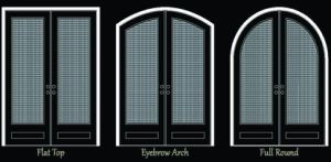 Square Top Wrought Iron Entrance Door (UID-D050) pictures & photos