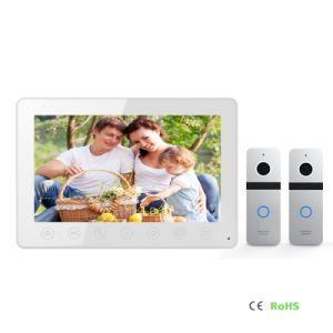 Home Security 7 Inches Video Door Phone Door Bell Interphone with Memory pictures & photos