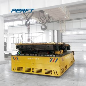100t Heavy Load Battery Motorized Trackless Cart Material Transfer Car pictures & photos