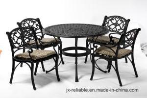 Elegant Dining Cast Aluminum Garden Set Furniture with Cushion pictures & photos