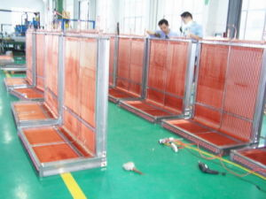 7mm Screwed Copper Tube Louvered Fin Commercial Heat Pump Heat Exchanger pictures & photos