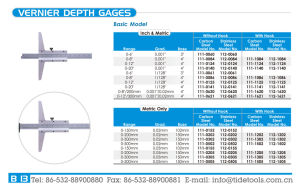 Hight Quality Basic Model Vernier Depth Gauges/ Depth Caliper 0-500mm, with/Without Hook pictures & photos