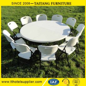 Plastic Round Outdoor Table for Wedding&Event with Different Size Steel Frame pictures & photos