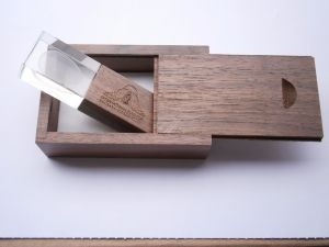 Wooden Transparent USB Flash Drive (OM-C105) pictures & photos