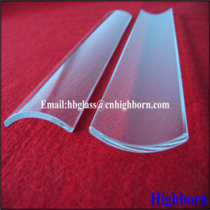 Fire Polish Clear Arc Fused Quartz Glass Slide pictures & photos