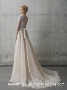 Sleeveless Bridal Formal Gowns V-Neck Lace Wedding Dress Lb1927 pictures & photos