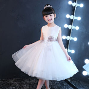 Ivory Embroider Flower Girl Dress pictures & photos