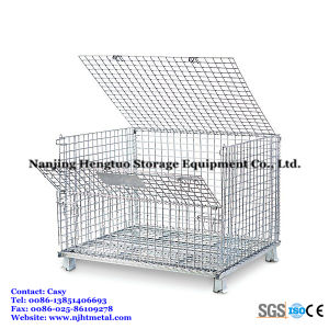 Folding Transport Roll Container / Roll Wire Trolley pictures & photos