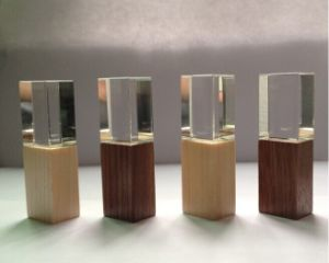 Wooden Crystal USB Flash Drive (OM-C104) pictures & photos