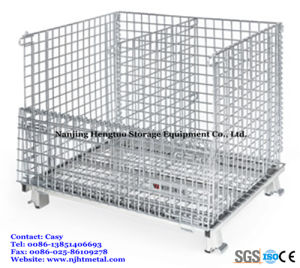Heavy Duty Storage Folding Wire Mesh Container with Separators pictures & photos