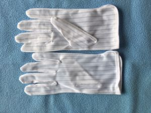 Cleanroom ESD PVC Dotted Work Gloves pictures & photos