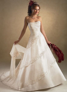 White Simple Wedding Dress Style with Shawl
