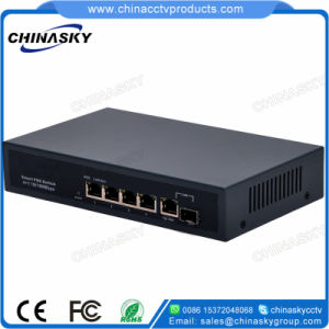 4 Ports CCTV Security System Poe Network Switch (POE0410BG) pictures & photos