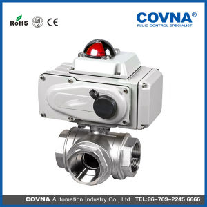 3 Ways Stainless Steel L Type Motorized Valve pictures & photos