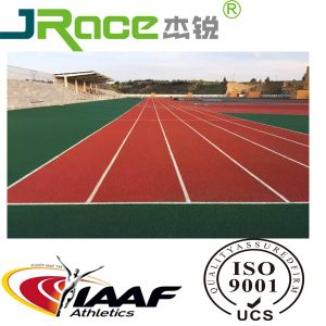 Recyclable Rubber Running Track, Synthetic Athletic Track pictures & photos