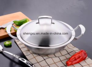 18/10 Stainless Steel Cookware Chinese Wok Cooking Frying Pan (SX-WO32-16) pictures & photos