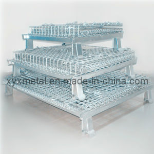 Collapsible Stackable Industrial Storage Galvanized Coating Wire Mesh Cage pictures & photos