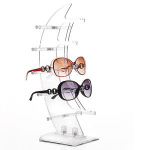 Customized Fashion Sail-Shaped Acrylic Sunglasses Display Rack pictures & photos