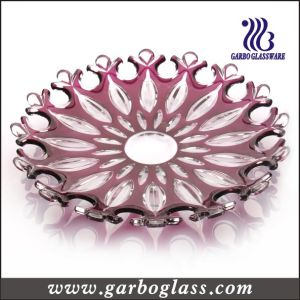 Stock Red Unique Decorative Design Glass Plate (GB1714LK/P) pictures & photos