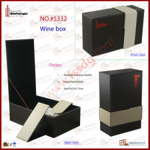 Dual PU Leather Wine Box (5332) pictures & photos