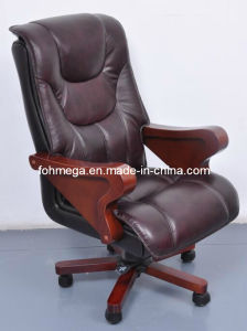 Executive Office Black Genuine Leather CEO Chair (FOH-B8012) pictures & photos