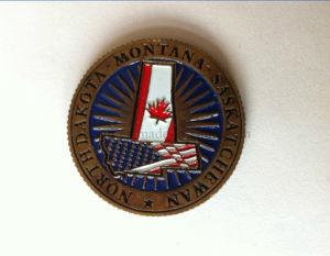 Soft Enamel Antique Copper Challenge Coin Badge