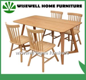 Solid Oak Wood Dining Table (W-DF-9026) pictures & photos