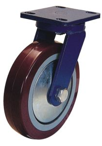 Swivel PU Caster Heavy Duty Wheel (Red) pictures & photos