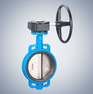 Electric Actuator Wafer Butterfly Valve with Hand Wheel pictures & photos