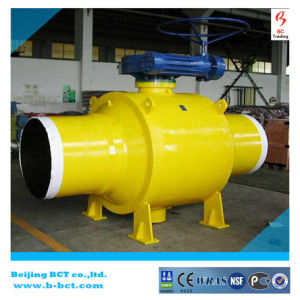 Welding Eccentrice Ball Valve with Gear Worm or Actuator Bct-E-BV05 pictures & photos