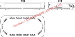 High Brightness LED Mini Lightbar with Aluminum Case pictures & photos