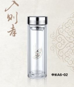 Double Wall Glass Tea Thermos (A6-02)