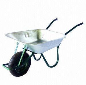 Wheelbarrow with Heavy-Duty Metal Tray and 60L Water Capacity