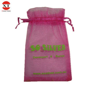 Organza Drawstring Gift Pouches (FLY7006-LP) pictures & photos