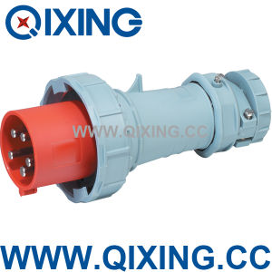 IEC 309 63A 5p Red Three Phase Industrial Power Plug pictures & photos