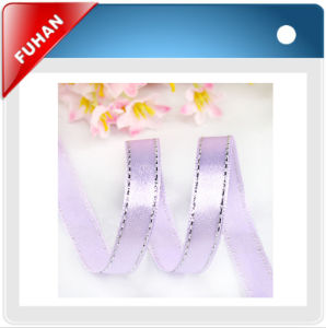 Silk Screen Printing Silver Christmas Ribbon pictures & photos