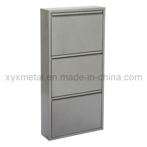 Fashion Style Grey Color Metal Shoe Cabinet pictures & photos