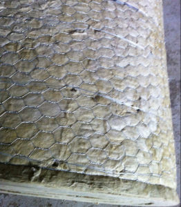 China wire mesh mineral heat insulation rock wool blanket for Steel wool insulation