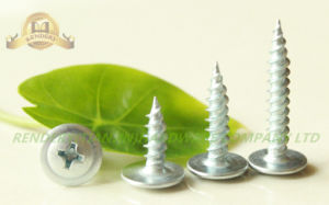 Modified Truss Head pH2 Fine Thread Galvanized Self Tapping Serrate Screw pictures & photos