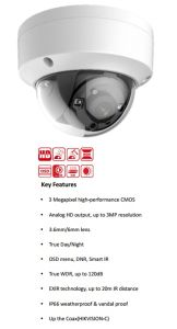 3MP WDR Vandal Proof Exir Dome Camera (AC335-OD 3.6mm) pictures & photos