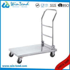 Manufactory Hot Sale Stainless Steel Home Use Folding Hand Push Trolley pictures & photos