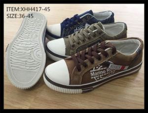 Latest Design Injection Canvas Shoes Leisure Shoes (XHH417-45) pictures & photos