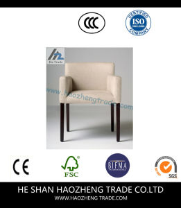 Hzdc176 Furniture Beige Linen Arm Chair pictures & photos
