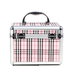 Leisure Gird Pattern Hard Artist Train Makeup Case with Mirror pictures & photos