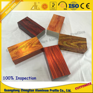 Aluminium Extrusion Profile with 3D Wood Grain for Tube Profile pictures & photos